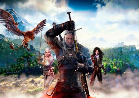 TheWitcher1 448x316 - How to get Ds4 button prompts in Steam, wireless or wired, and without a mod