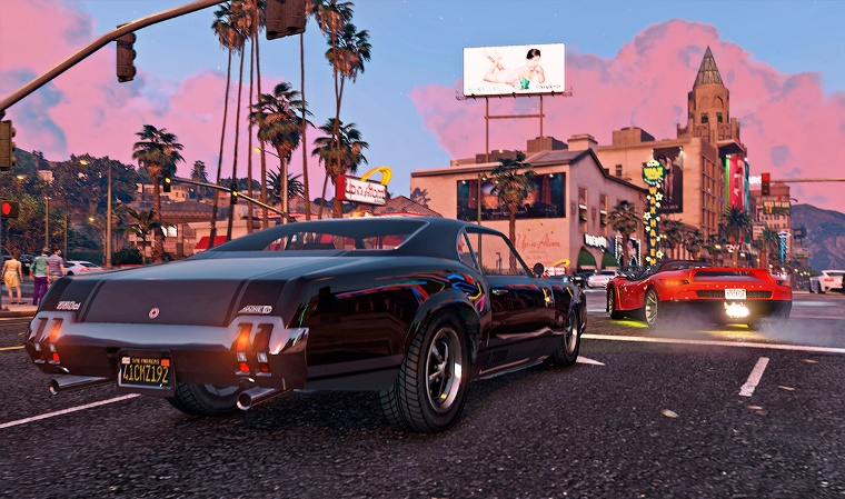 GrandTheftAutoV4 - Dreaming on Northern San Andreas with small towns, true desert and well-known big cities
