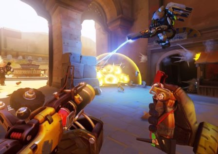 Overwatch2 448x316 - GIANT MECHA vs TOY SOLDIERS! 6v1 BOSS PvE. CODE: N4QWQ